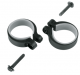 STAY MOUNTING CLAMPS 2 PCS. 26,5 - 30,5MM SKS BLACK 11482