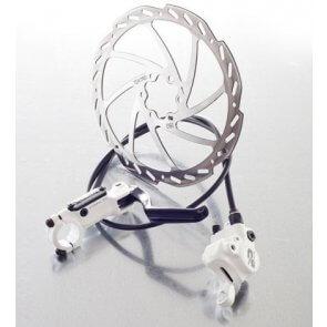 Предна дискова спирачка Tektro Auriga H900 R160 бяла