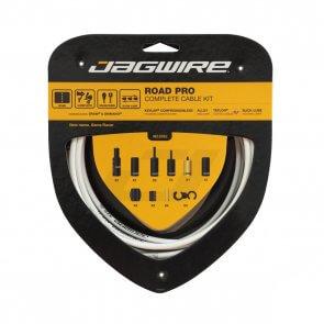 Брони, жила и накрайници за спирачки и скорости JAGWIRE ROAD PRO RCK004 бял