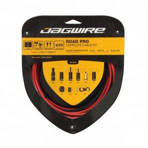 Брони, жила и накрайници за спирачки и скорости JAGWIRE ROAD PRO RCK006 червен